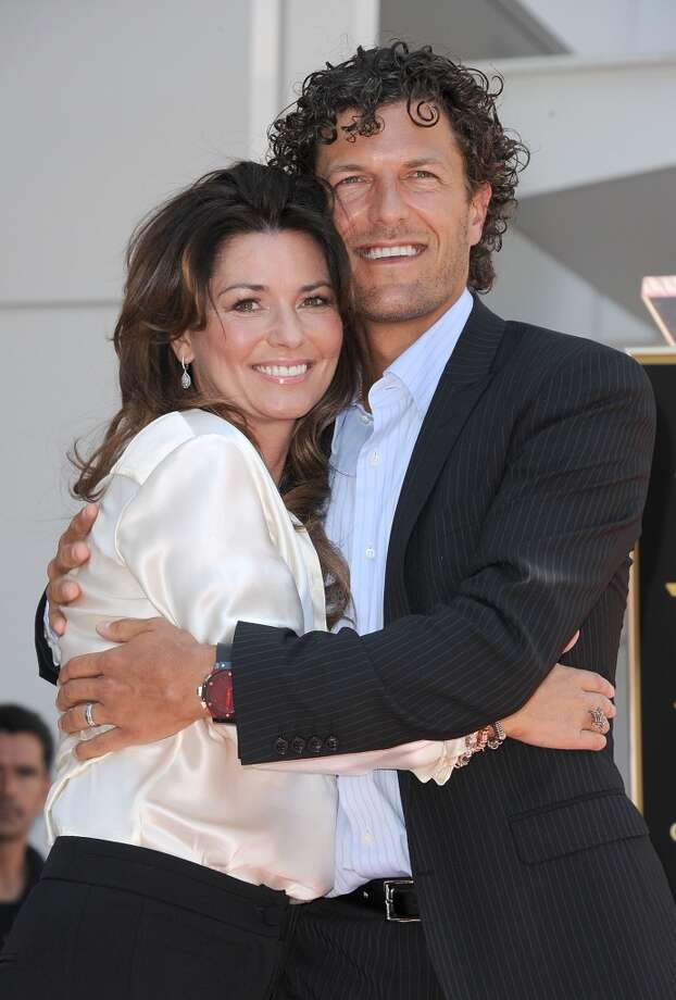 Singer Shania Twain and her husband Frederic Thiebaud were married in Puerto Rico on New Year's Day 2011. Theirs is a complicated love story. His ex-wife — and her good friend — had an affair with Twain's husband while both couples were still married. At least Twain and Thiebaud found a happy ending. Photo: Jason Merritt, Getty Images