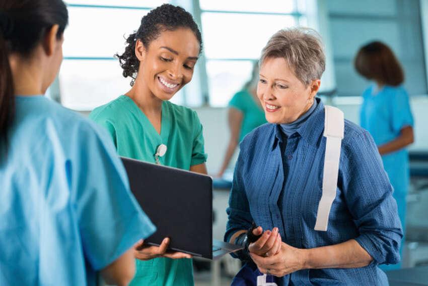 Nurse Practicioner - $124,960Source: U.S. Bureau of Labor Statistics, May 2012 Metropolitan and Nonmetropolitan Area Occupational Employment and Wage Estimates (Houston-Sugar Land-Baytown)