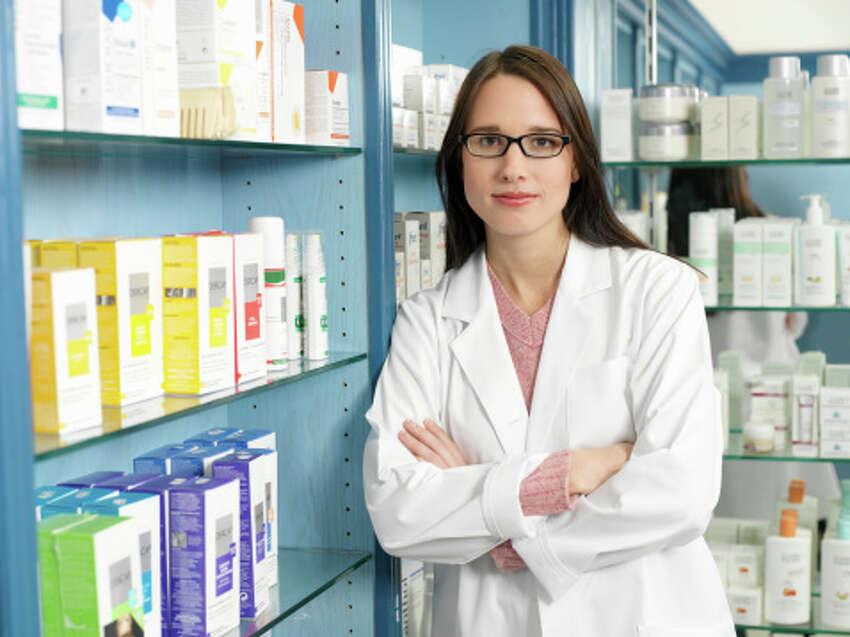 Pharmacist - $127,070Source: U.S. Bureau of Labor Statistics, May 2012 Metropolitan and Nonmetropolitan Area Occupational Employment and Wage Estimates (Houston-Sugar Land-Baytown)