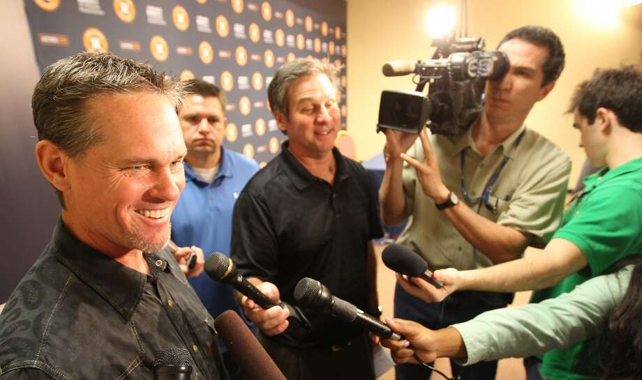 Former Houston Astros player Craig Biggio answers questions for the media during a press conference about his first time being on the MLB Hall of Fame ballot, Monday, Nov. 26, 2012, in Minute Maid Park in Houston.  ( Nick de la Torre / Houston Chronicle ) Photo: Houston Chronicle