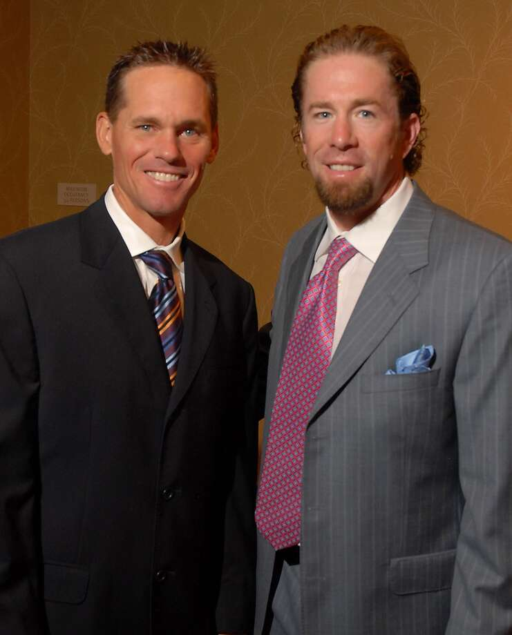 Honorary chairs Craig Biggio and Jeff Bagwell at the Texas Children's Hospital luncheon at the Hilton Americas Hotel Thursday Sept. 25,2008.(Dave Rossman/For the Chronicle) Photo: For The Chronicle