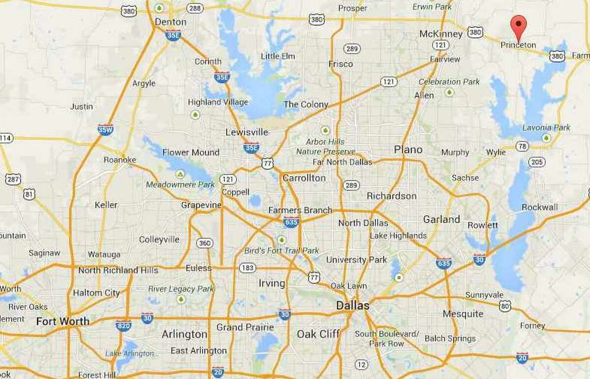 Princeton, Texas, is located just northeast of Dallas. (Google Maps)