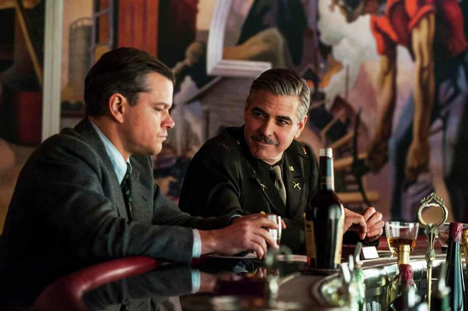 "Matt Damon, left, and George Clooney will star in ""The Monuments Men."" Photo: Claudette Barius, HOEP / Sony Pictures"