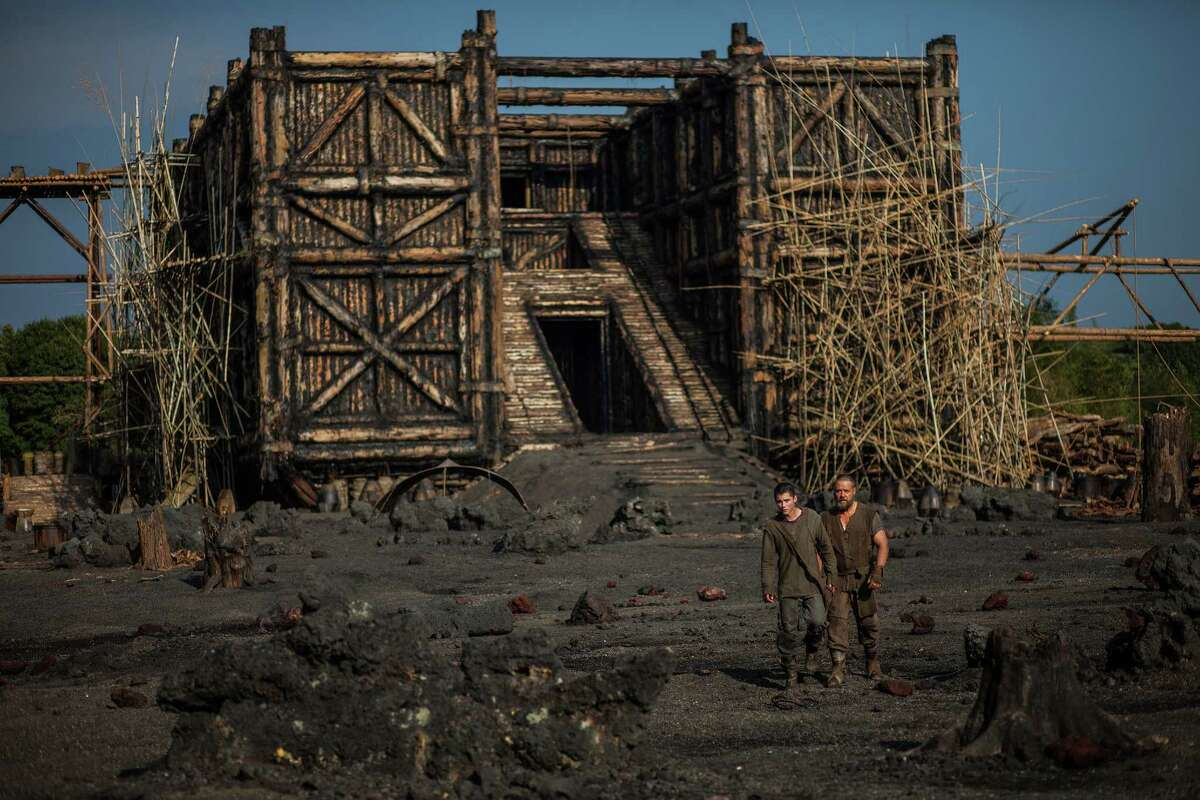 (Left to right) Logan Lerman is Ham and Russell Crowe is Noah in NOAH, from Paramount Pictures and Regency Enterprises.