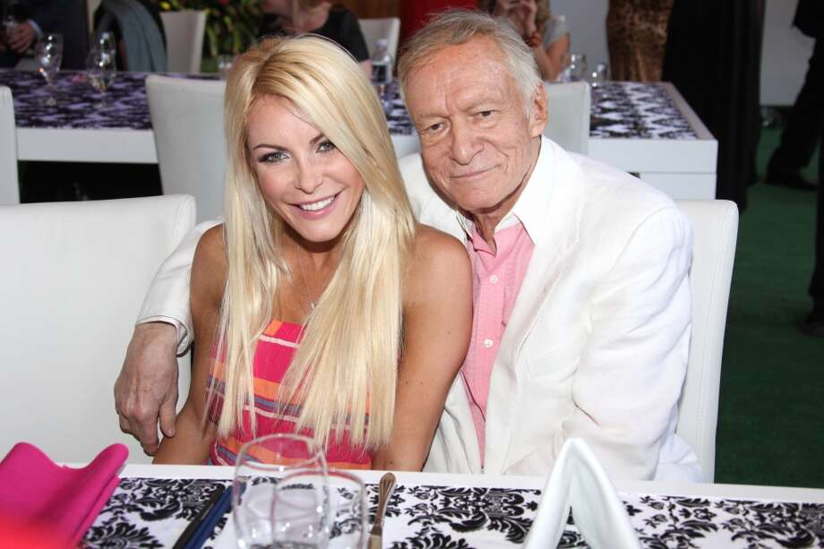 Crystal Harris originally broke off her engagement to Hugh Hefner five days before their wedding in the summer of 2011. The couple reconciled and were married on Dec. 31, 2012. Photo: Tommaso Boddi, WireImage