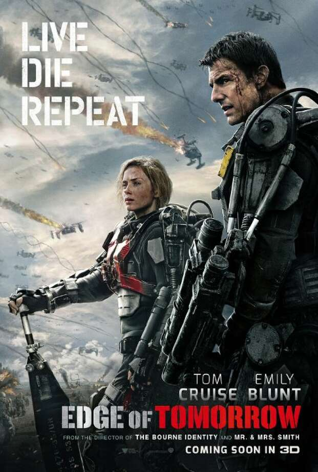 Edge of TomorrowStarring: Tom Cruise, Emily Blunt, Bill PaxtonRelease date: June 6A soldier fighting in a war with aliens finds himself caught in a time loop of his last day in the battle, though he becomes better skilled along the way. Photo: Contributed