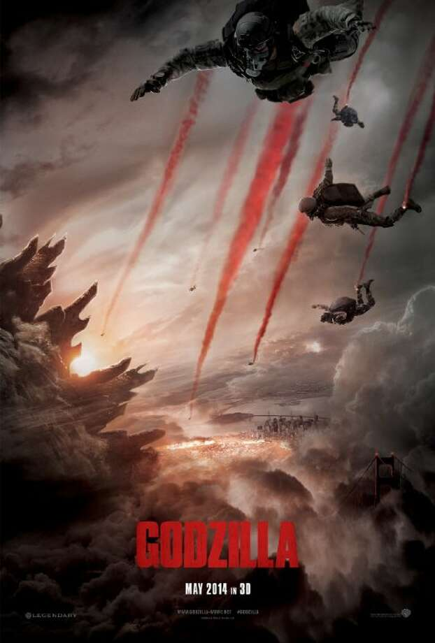 GodzillaStarring:Aaron Taylor-Johnson, Elizabeth Olsen, Bryan CranstonRelease date: May 16A giant radioactive monster called Godzilla appears to wreak destruction on mankind. Photo: Contributed