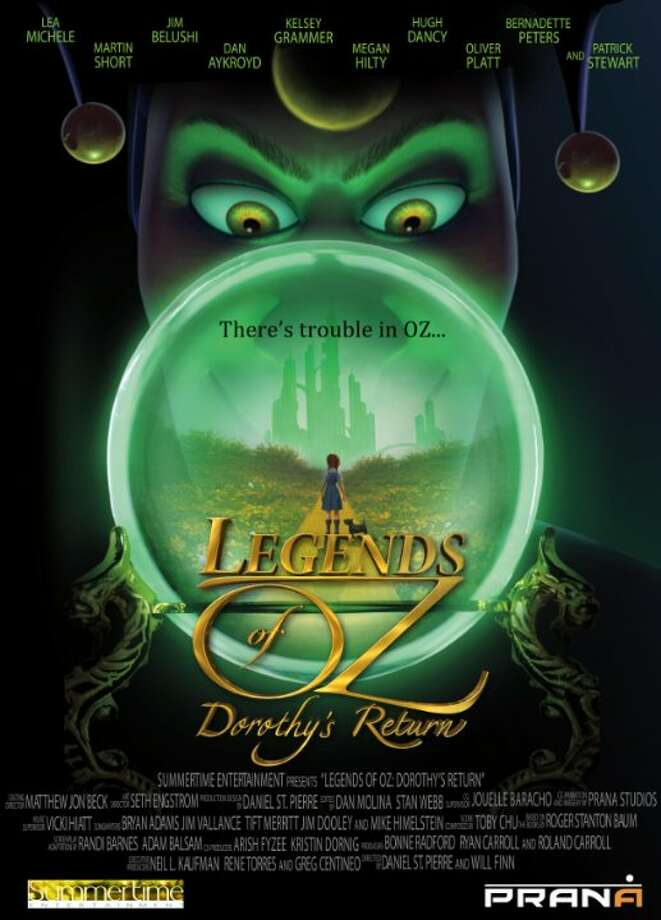 Legends of Oz: Dorothy ReturnsStarring:Lea Michele, Hugh Dancy, Patrick StewartRelease date: May 9Back in Kansas, Dorothy Gale decides to return to Oz in order to help her friends. Photo: Contributed