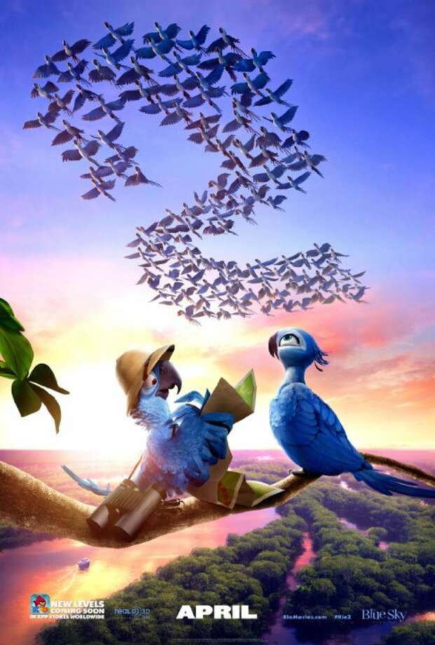 Rio 2Starring:Anne Hathaway, Rodrigo Santoro, Leslie MannRelease date: April 11It's a jungle out there for Blu, Jewel and their three kids in RIO 2, after they're hurtled from that magical city to the wilds of the Amazon. As Blu tries to fit in, he goes beak-to-beak with the vengeful Nigel, and meets the most fearsome adversary of all - his father-in-law. Photo: Contributed