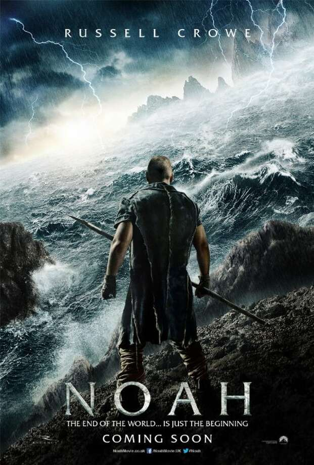 NoahStarring:Russell Crowe, Emma Watson, Logan Lerman, Jennifer ConnellyRelease date: March 28The Biblical Noah suffers visions of an apocalyptic deluge and takes measures to protect his family from the coming flood. Photo: Contributed