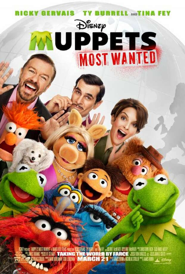 Muppets Most WantedStarring: Tom Hiddleston, Salma Hayek, Stanley TucciRelease date: March 21While on a grand world tour, The Muppets find themselves wrapped into an European jewel-heist caper headed by a Kermit the Frog look-alike and his dastardly sidekick. Photo: Contributed