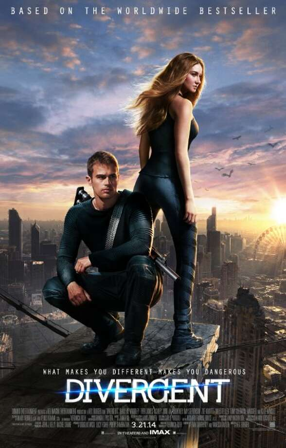 DivergentStarring:Shailene Woodley, Theo James, Kate WinsletRelease date:March 21Beatrice Prior, a teenager with a special mind, finds her life threatened when an authoritarian leader seeks to exterminate her kind in her effort to seize control of their divided society. Photo: Contributed