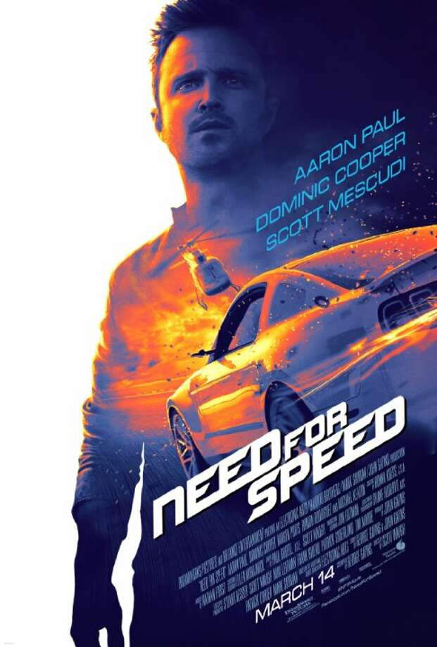 Need For SpeedStarring: Aaron Paul, Chillie Mo, Dominic CooperRelease date: March 14Fresh from prison, a street racer who was framed by a wealthy business associate joins a cross country race with revenge in mind. His ex-partner, learning of the plan, places a massive bounty on his head as the race begins. Photo: Contributed