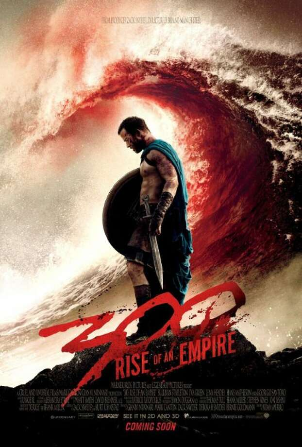 300: Rise of an EmpireStarring:Sullivan Stapleton, Rodrigo Santoro, Eva GreenRelease date: March 7The Greek general Themistocles battles an invading army of Persians under the mortal-turned-god, Xerxes. Photo: Contributed