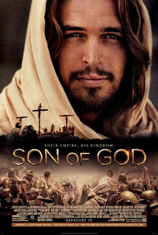 Son of GodStarring: Diogo Morgado, Roma Downey, Amber Rose RevahRelease date: Feb. 28The life story of Jesus is told from his humble birth through his teachings, crucifixion and ultimate resurrection. Photo: Contributed