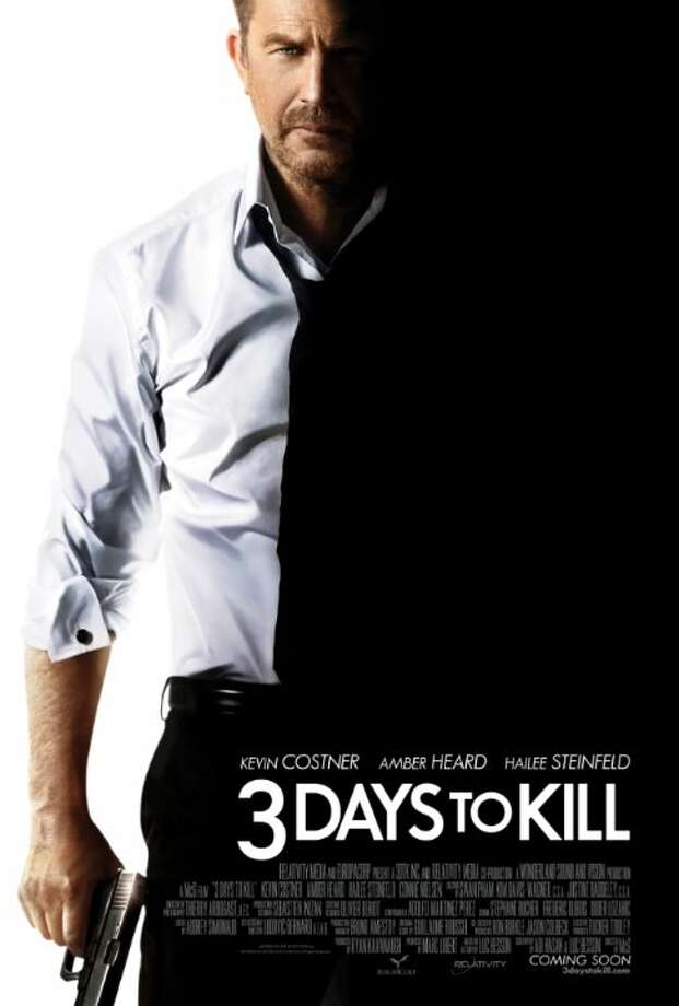 3 Days to KillStarring:Amber Heard, Kevin Costner, Hailee SteinfeldRelease date:Feb. 21A dying Secret Service Agent trying to reconnect with his estranged daughter is offered an experimental drug that could save his life in exchange for one last assignment. Photo: Contributed