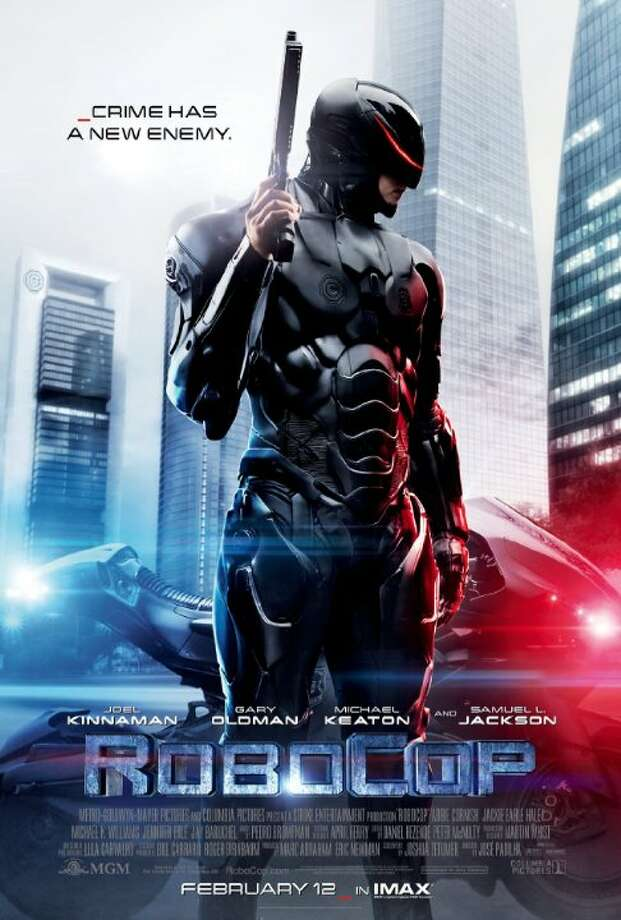 RobocopStarring:Joel Kinnaman, Douglas Urbanski, Abbie CornishRelease date: Feb. 12In 2028 Detroit, when Alex Murphy (Joel Kinnaman) - a loving husband, father and good cop - is critically injured in the line of duty, the multinational conglomerate OmniCorp sees their chance for a part-man, part-robot police officer. Photo: Contributed