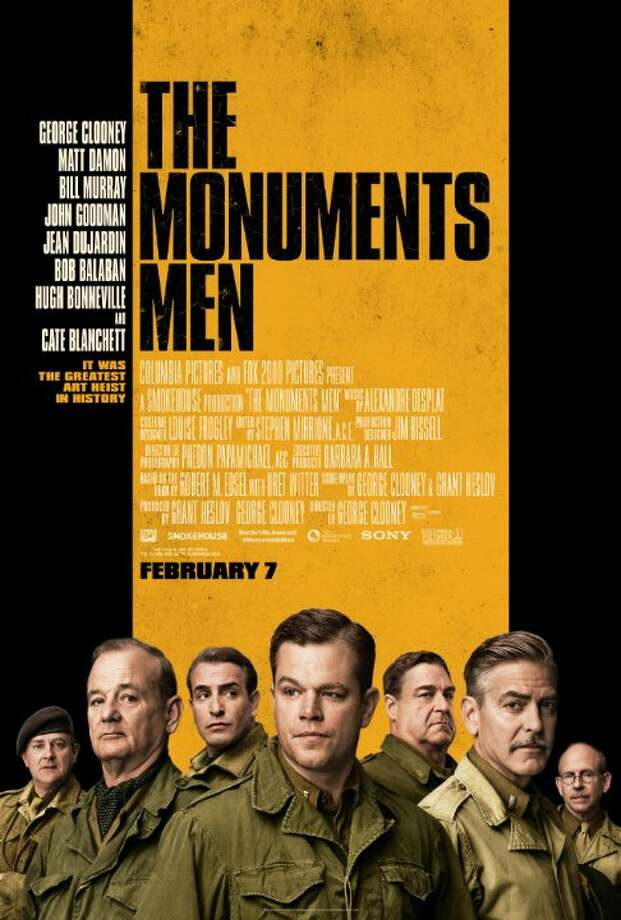 The Monuments MenStarring:George Clooney, Cate Blanchett, Matt DamonRelease date:Feb. 7An unlikely World War II platoon are tasked to rescue art masterpieces from Nazi thieves and return them to their owners. Photo: Contributed