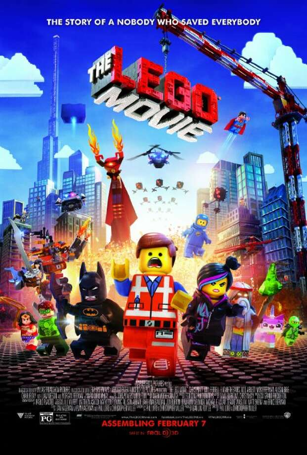 The Lego MovieStarring: Chris Pratt, Elizabeth Banks, Will ArnettRelease date: Feb. 7An ordinary LEGO minifigure, mistakenly thought to be the extraordinary MasterBuilder, is recruited to join a quest to stop an evil LEGO tyrant from gluing the universe together. Photo: Contributed