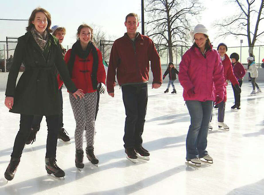 Take advantage of the cold weather this weekend and head over to the Westport PAL ice rink at Longshore Park. Photo: File Photo / Westport News