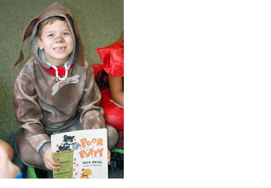 "Decker Prairie Elementary School second-grade student Trace Nale dresses as his favorite character in ""Poor Puppy"" for Storybook Day. Photo: Provided By Humble Independent School District"