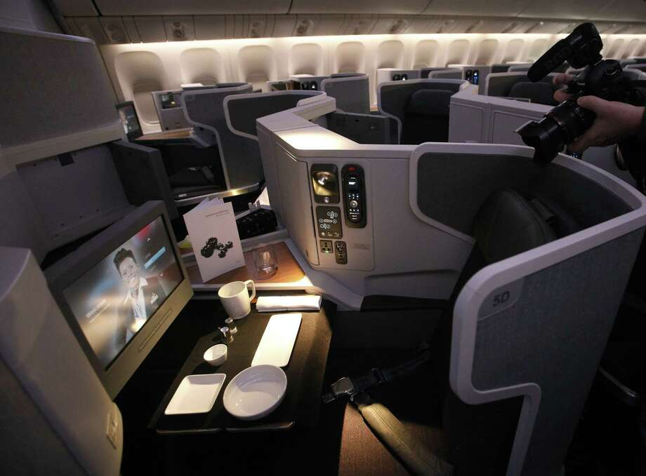 Work while you travel, if you are so inclined: The Business Class on the  newest American Airlines Boeing 777-300ER. Photo: McClatchy-Tribune News Service / Dallas Morning News
