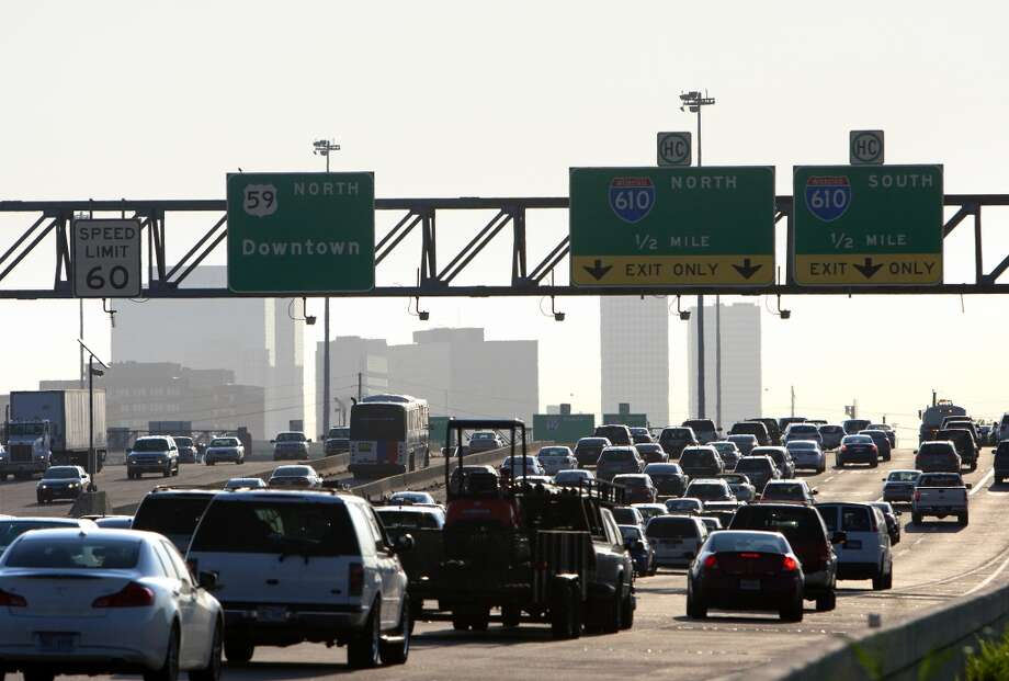 Telling someone to drive the speed limit, especially on the freeway.  Photo: Cody Duty, Houston Chronicle