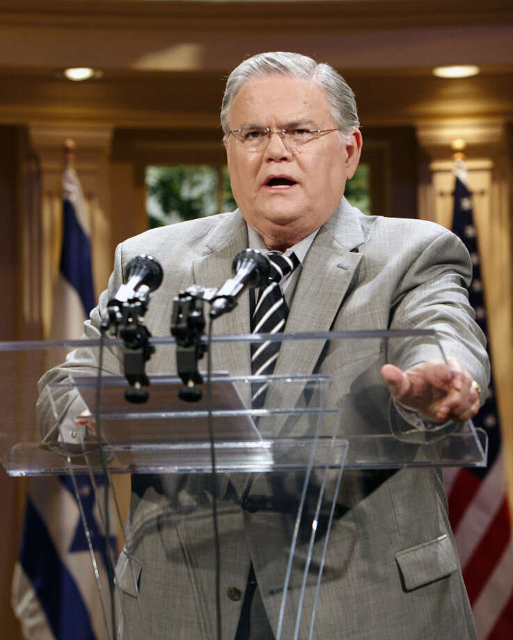 Readers respond to comments made by Rev. John Hagee, pastor of Cornerstone Church in San Antonio, that atheists should book flights out of town. Photo: Associated Press File Photo / AP