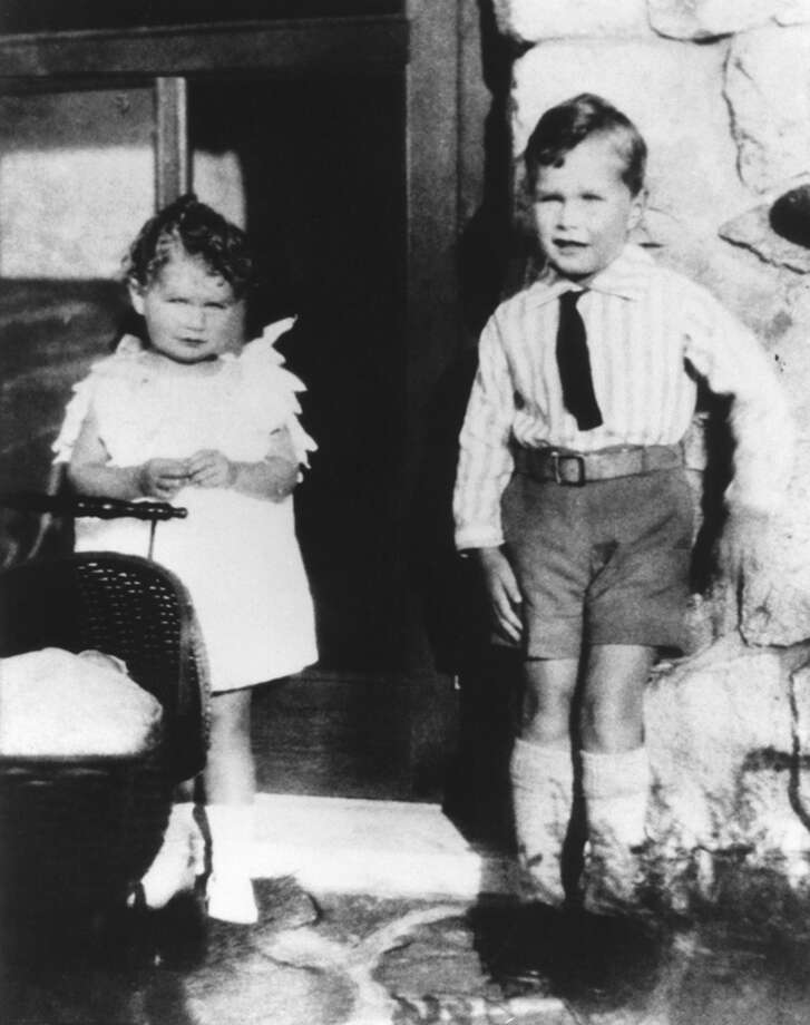 George Herbert Walker Bush is pictured with his sister Mercy in 1929 at about age 5. Photo: AFP, AFP/Getty Images / AFP