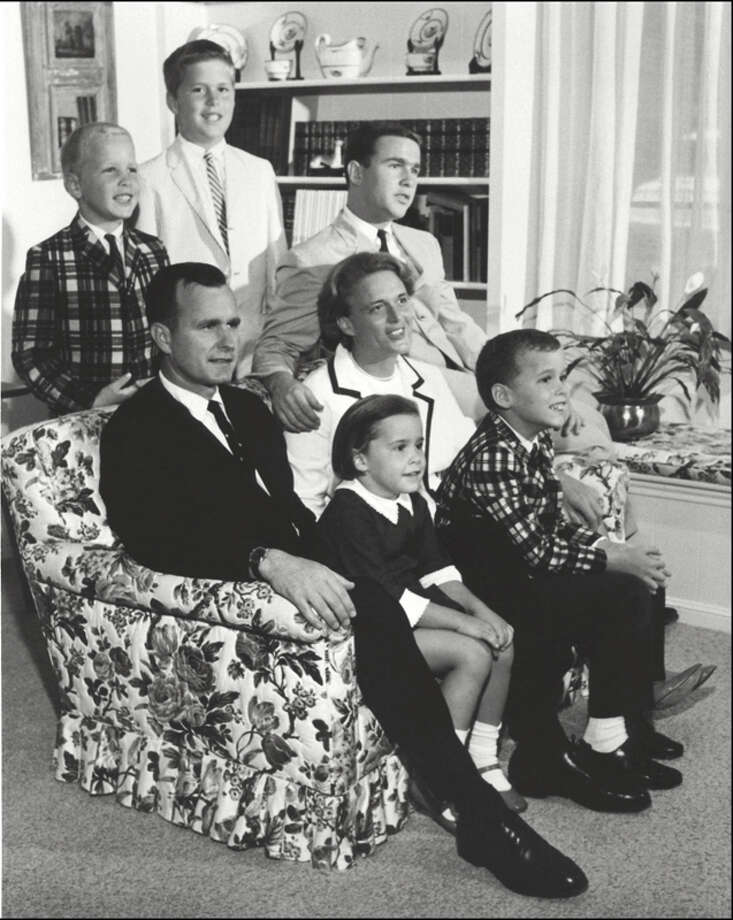 George H.W. Bush is shown in this 1964 photo with his wife Barbara, four sons and daughter. (Photo credit should read AFP/AFP/Getty Images) Photo: AFP, AFP/Getty Images / AFP