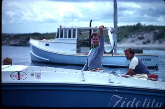 Then-candidate for vice president, George H.W. Bush holds a fish September 1980 in Kennebunkport, Maine. Bush was the running mate of Ronald Reagan. Photo: Cynthia Johnson, Getty Images