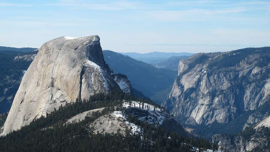 In a landmark dry winter, you can now make the 9.4-mile hike from Yosemite Valley to the world-class lookout across the backside of Half Dome and beyond to the northern rim of Yosemite Valley to El Capitan Photo: Mark Kushner
