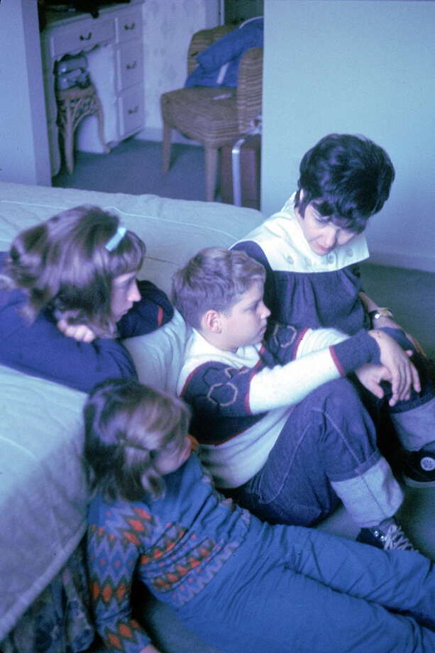 The family of Gemini 7 (Gemini VII) astronaut Jim Lovell sit in a bedroom in Houston and talk on the day of the mission's 1965 launch. From left, eldest daughter Barbara lies on the bed, younger daughter Susan sits in the foreground, son James (Jay), and pregnant mother Marilyn Lovell. Photo: Burton McNeely, Time & Life Pictures/Getty Image / Time Life Pictures