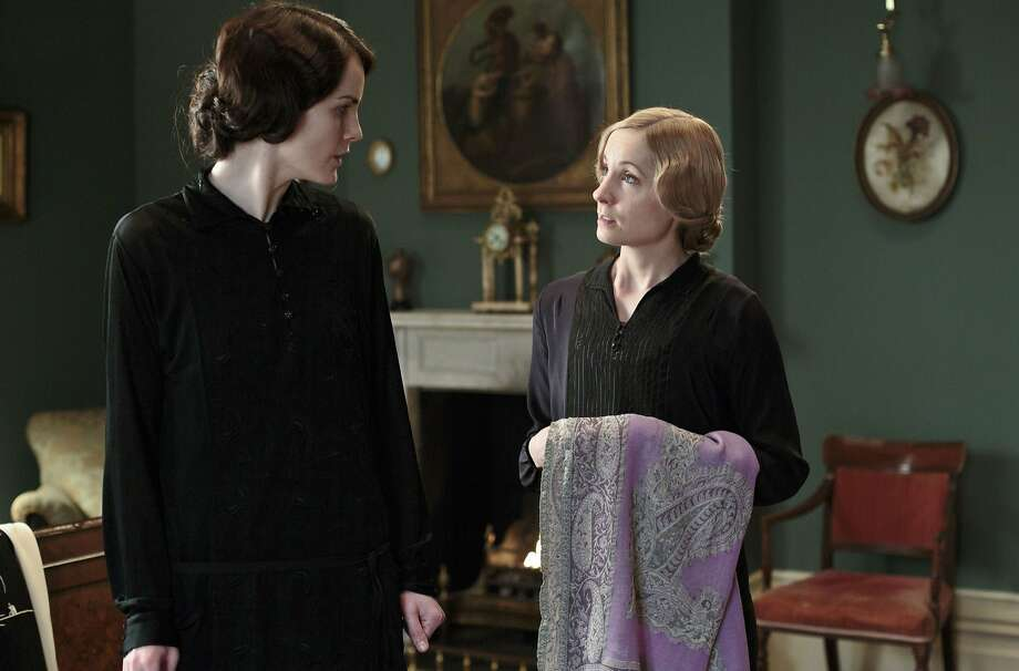 "Lady Mary Crawley (Michelle Dockery, left) with ""Downton Abbey"" maid Anna (Joanne Froggatt). Photo: Nick Briggs, Associated Press"