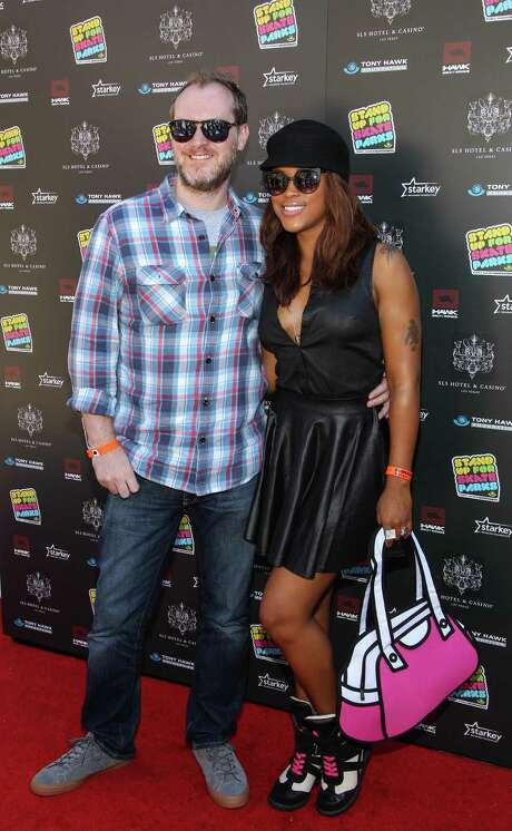 Eve and her fiancé Maximillion Cooper. Photo: Paul A. Hebert, INVL / Invision
