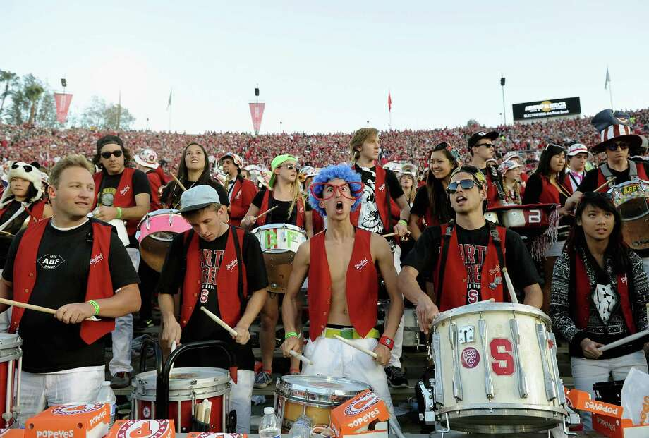The Stanford Cardinal marching band performs during the 100th Rose Bowl Game presented by Vizio against the Michigan State Spartans at the Rose Bowl on January 1, 2014 in Pasadena, California. Photo: Harry How, Getty Images / 2014 Getty Images
