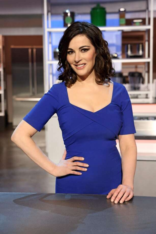 Chef/mentor Nigella Lawson was disappointed she didn't get a glass of Pullulm's wine to taste. Photo: Craig Sjodin, ABC