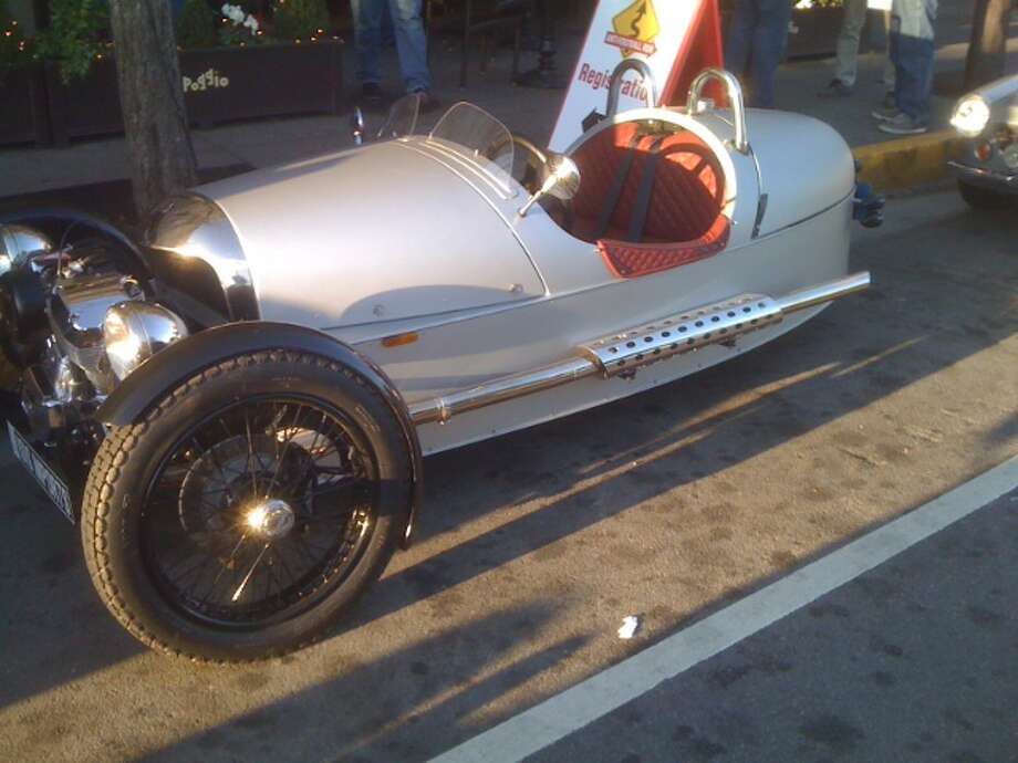 A Morgan three-wheel vehicle is registered as a motorcycle but doesn't require a helmet. Photo: Courtesy Ron Wren