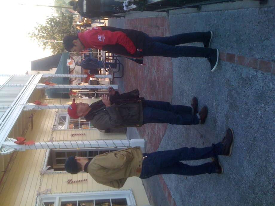 Anti-Football drivers at The Creamery in Petaluma, Calif. on Jan. 1, 2014. Photo: Courtesy Ron Wren