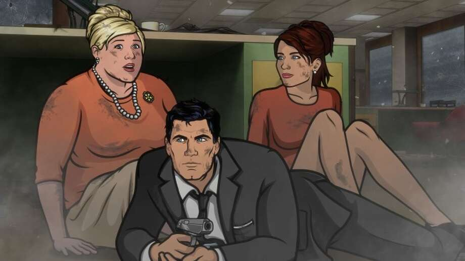 'Archer' returns to FX Monday, January 13. Someone dies. Someone who has been with the ISIS crew from the beginning.  And then things get crazy. Photo: Copyright 2013, FX Network. All Rights Reserved.  / Copyright 2013, FX Network. All rights reserved.