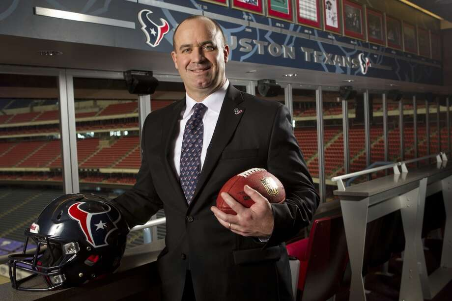 Texans head coach Bill O'Brien poses for a portrait after he was introduced during a news conference at Reliant Stadium on Friday, Jan. 3, 2014, in Houston. O'Brien comes to the Texans, replacing Gary Kubiak, after two seasons as the head coach at Penn State. Photo: Brett Coomer, Houston Chronicle