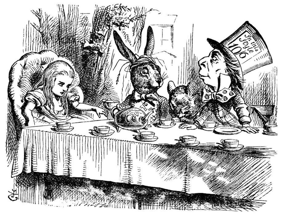 "A Mad Hatter tea party is planned at the Westport Library to mark the birthday of Lewis Carroll, the author of ""Alice in Wonderland."" Photo: Contributed Photo / Westport News"