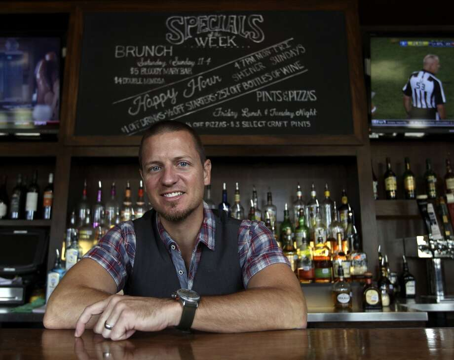 Robby Cook, now a partner at Snake Oil Company bar, was a bartender at J Black's when he was named Houston's Most Imaginative Bartender, a contest sponsored by Bombay Sapphire gin. ( Karen Warren / Houston Chronicle ) Photo: Karen Warren, Houston Chronicle
