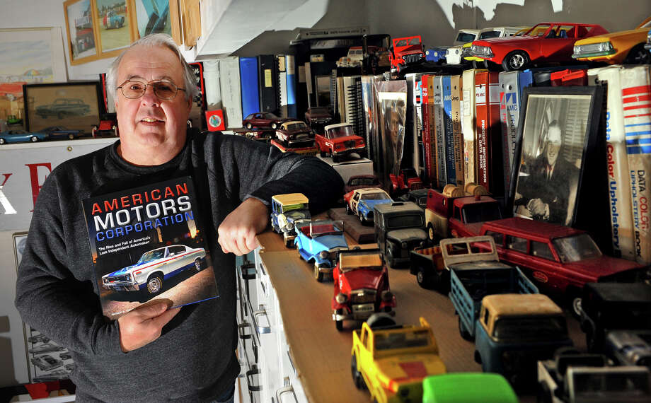 Author Pat Foster, who has just had a book about the American Motor Corporation published, poses in his office at his home on Clark Hill Road in Milford, Conn. on Friday January 3, 2014. Photo: Christian Abraham / Connecticut Post
