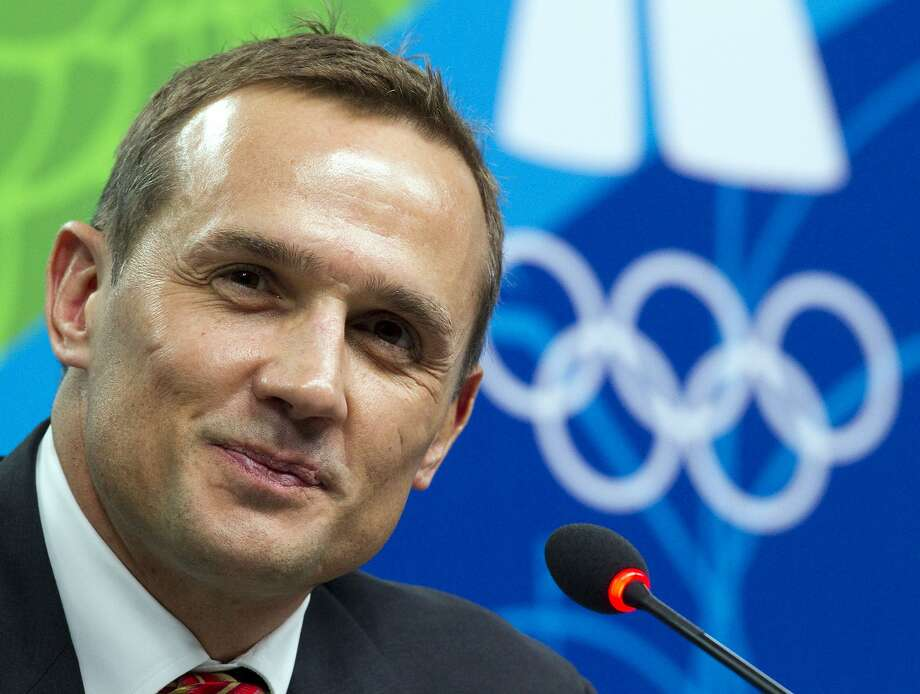 FILE - In this Feb. 13, 2010 file photo, Steve Yzerman, Executive Director Canada's Olympic mens hockey team, speaks to reporters at a news conference at the 2010 Vancouver Olympic Winter Games in Vancouver. Olympic gold medalists Yzerman and Nicklas Lidstrom, both Stanley Cup-winning captains for the Detroit Red Wings, will enter the International Ice Hockey Federation Hall of Fame. (AP Photo/Ryan Remiorz, CP) Photo: Ryan Remiorz, Associated Press