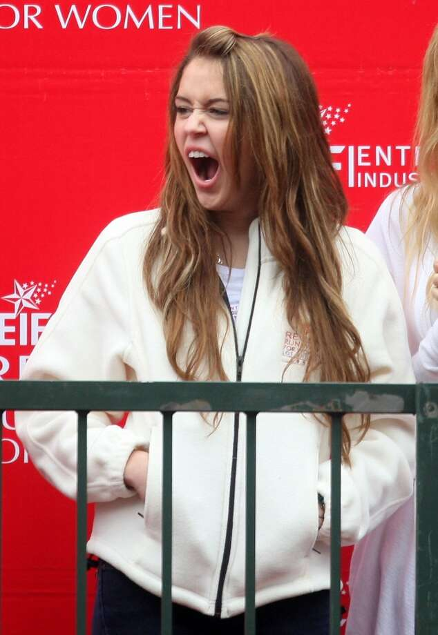 Miley Cyrus during a charity run/walk. Photo: Frederick M. Brown, Getty Images