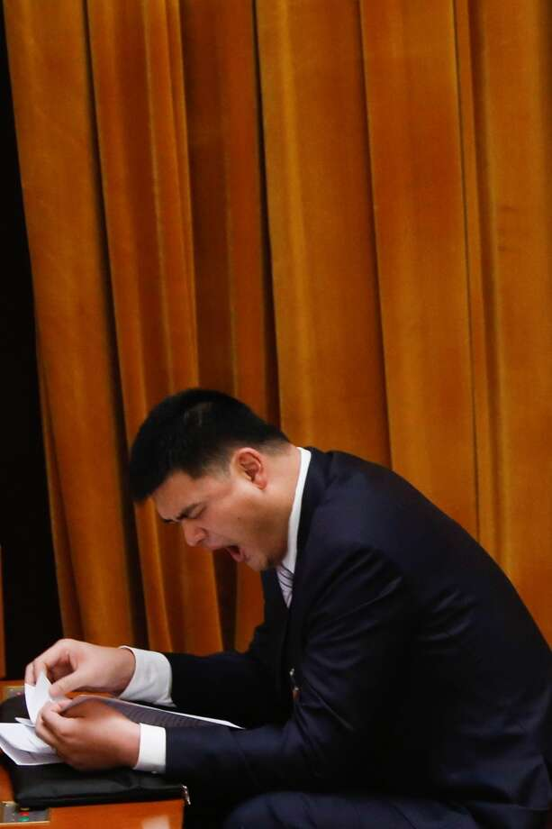 Yao Ming at a political conference. Photo: AFP, AFP/Getty Images