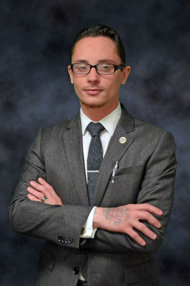 Kristopher Sharp, vice president of the University of Houston-Downtown Student Government Association, is hopeful the university will convert gender-segregated restrooms to gender-neutral. Photo: Courtesy Photo / ONLINE_YES