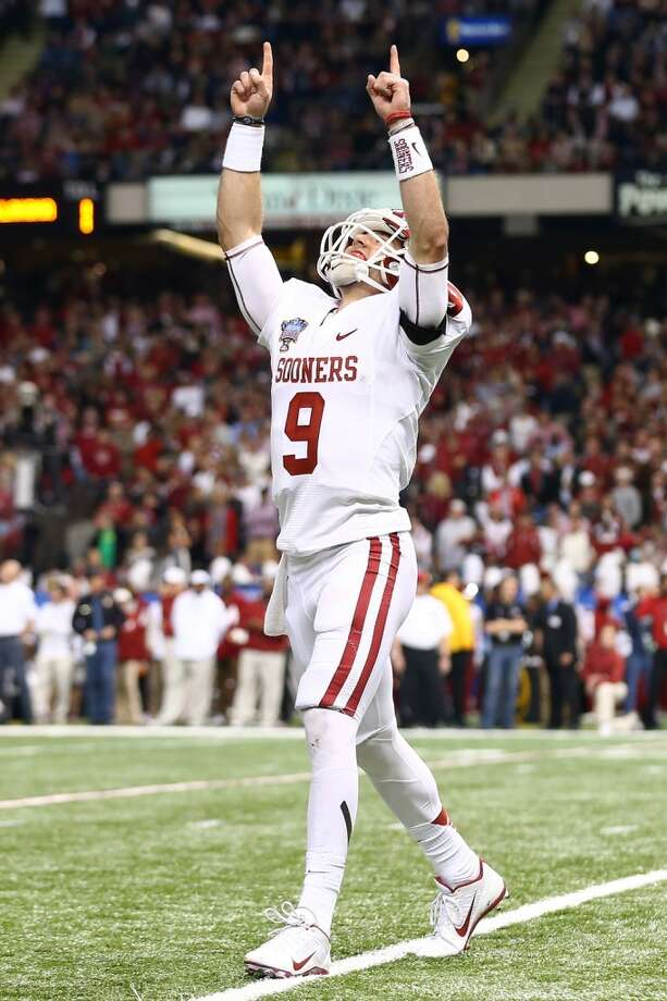 Trevor Knight #9 of the Oklahoma Sooners reacts after throwing a touchdown pass against the Alabama Crimson Tide during the Allstate Sugar Bowl at the Mercedes-Benz Superdome on January 2, 2014 in New Orleans. Photo: Streeter Lecka, Getty Images