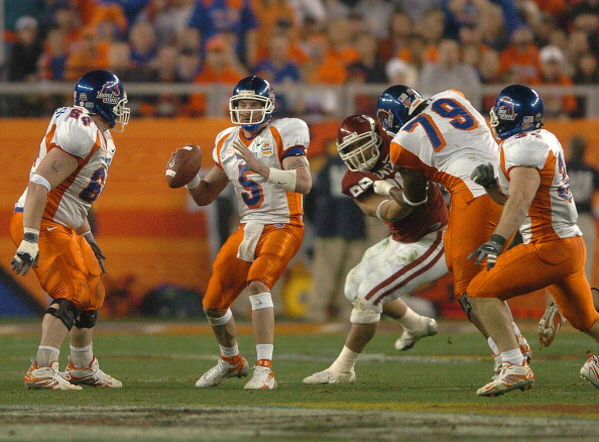 2006: Oklahoma lost to Boise State in the Fiesta Bowl, 43-42 (OT).